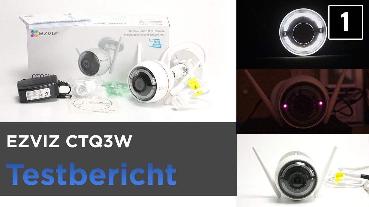 EZVIZ CTQ3W im Test - Überwachungskamera mit Blinklicht und