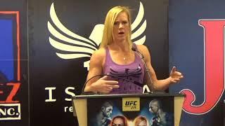 Video Holly Holm vs Cris Cyborg UFC 219 Press Conference (Albuquerque media) download MP3, 3GP, MP4, WEBM, AVI, FLV Juli 2018