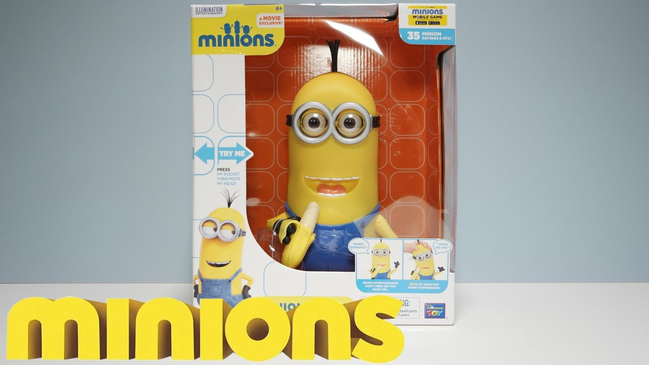 "MINION KEVIN - 10"" BANANA EATING ACTION FIGURE POSABLE ..."