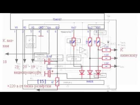 Видео усилитель TDA6107