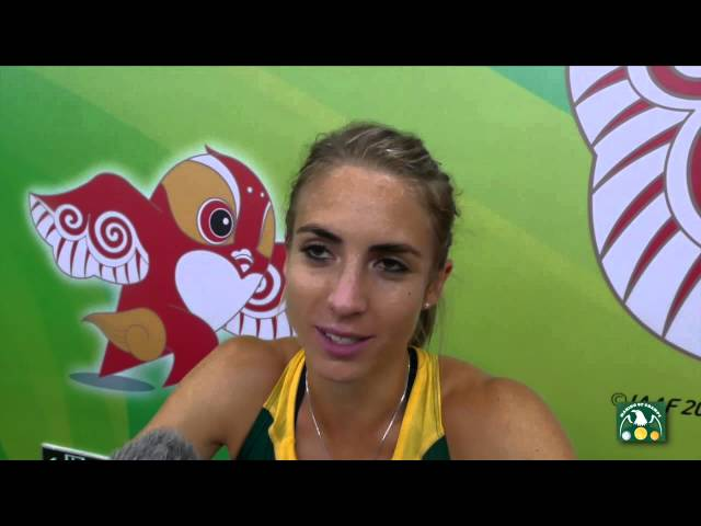 IAAF 2015 World Championships - African Champion Wenda Nel RSA after 400m Hurdles Final