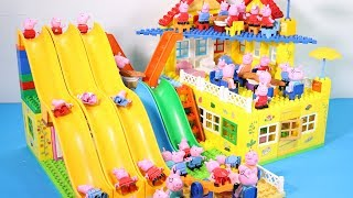 Peppa Pig Lego House Creations Toys - Lego House With Water Slide Toys For Kids #10