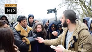 Crazy Claims!? Ali Dawah Vs Tommy Robinson Supporters   Speakers Corner   Hyde Park
