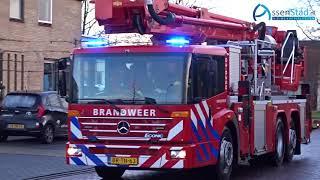 Schoorsteenbrand aan Blijdensteinstraat Assen