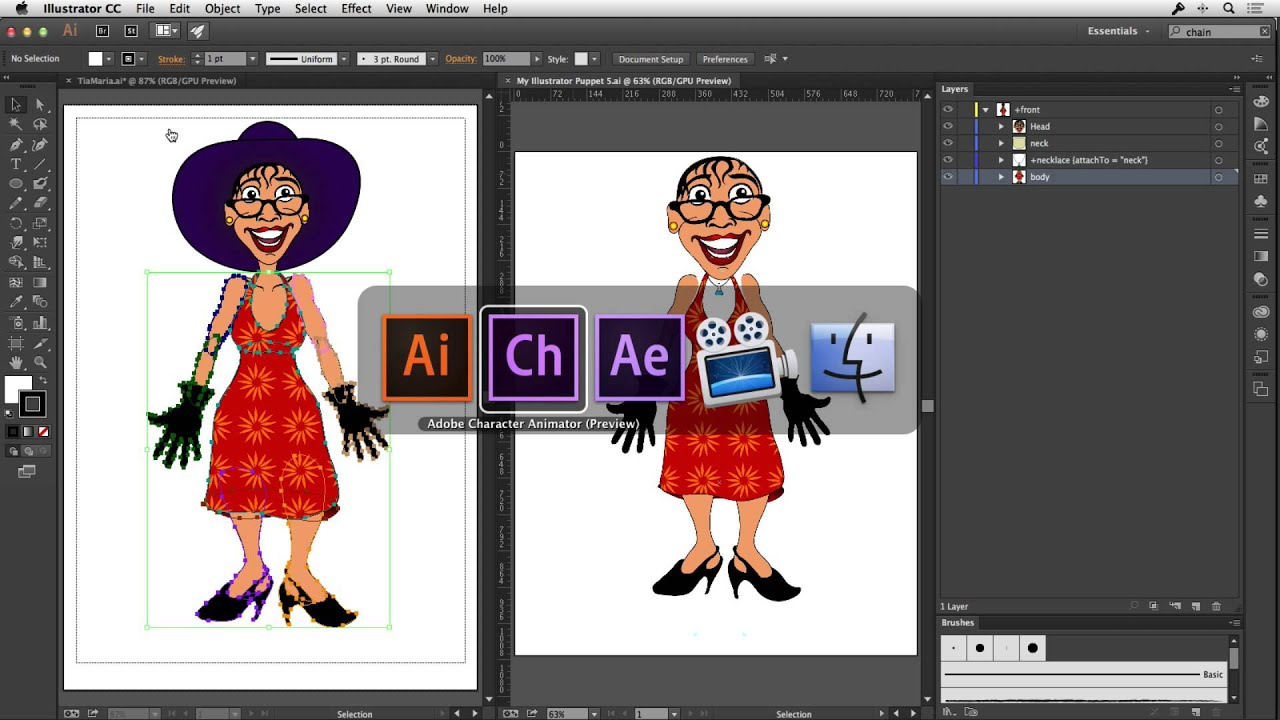 Character Design For Animation In Illustrator : Using illustrator artwork in adobe after effects