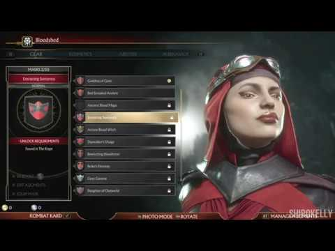 Mortal Kombat 11 : Skarlet Character Customization / All Outfits & Gear