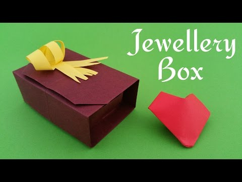 """Jewellery Gift Box with lid"""" - DIY Origami Tutorial by Paper Folds ❤️"""