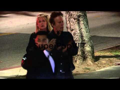 Tom Waits and Kathleen Brennan depart the Seven Psychopat...