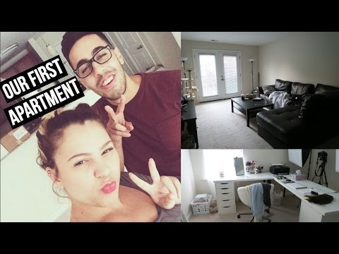 OUR NEW PLACE! | Moving Vlog + Apartment Tour