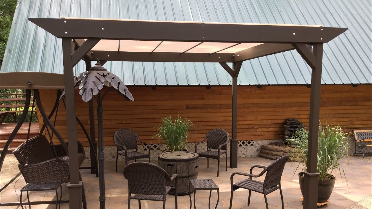 DIY – How to build a Simple Stand alone Sun Shade Shelter