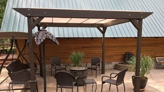 DIY – How to build a Simple Stand-alone Sun Shade - Shelter I constructed this 10x10 sun shelter for less than one third the price of