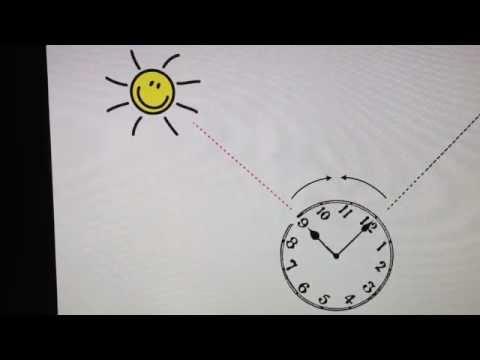 Mit Einer Uhr Und Der Sonne Die Himmelsrichtung Bestimmen Youtube
