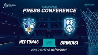 Neptunas Klaipeda v Happy Casa Brindisi - Press Conference - Basketball Champions League 2019-20