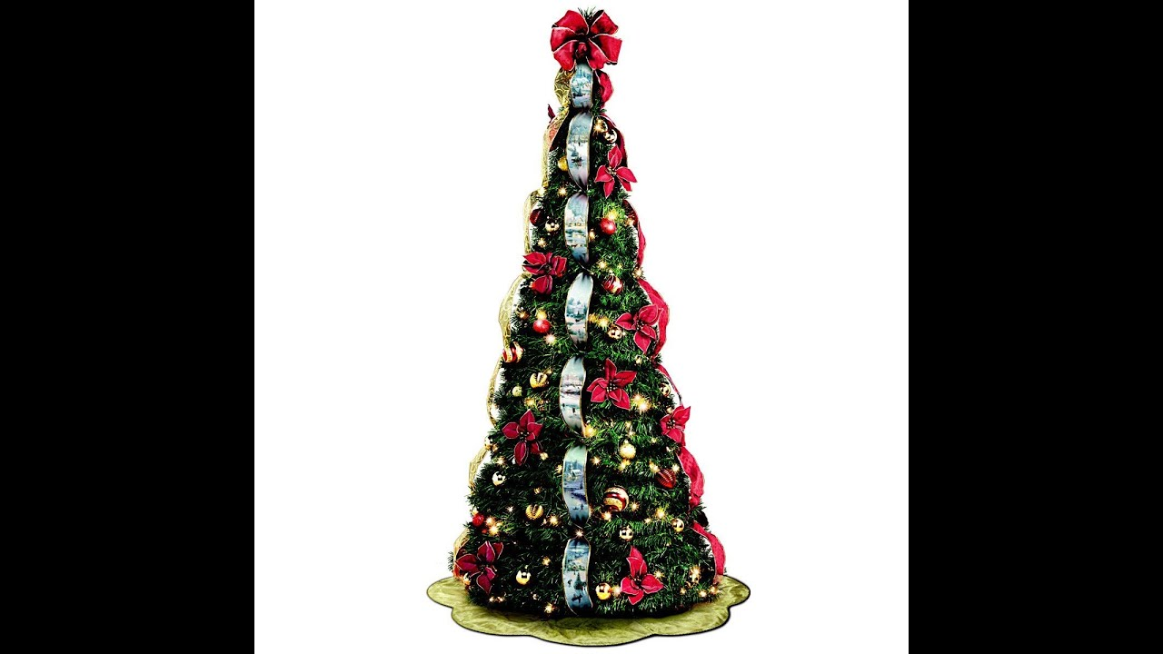 Review: Thomas Kinkade Pre-Lit Pull-Up Christmas Tree ...