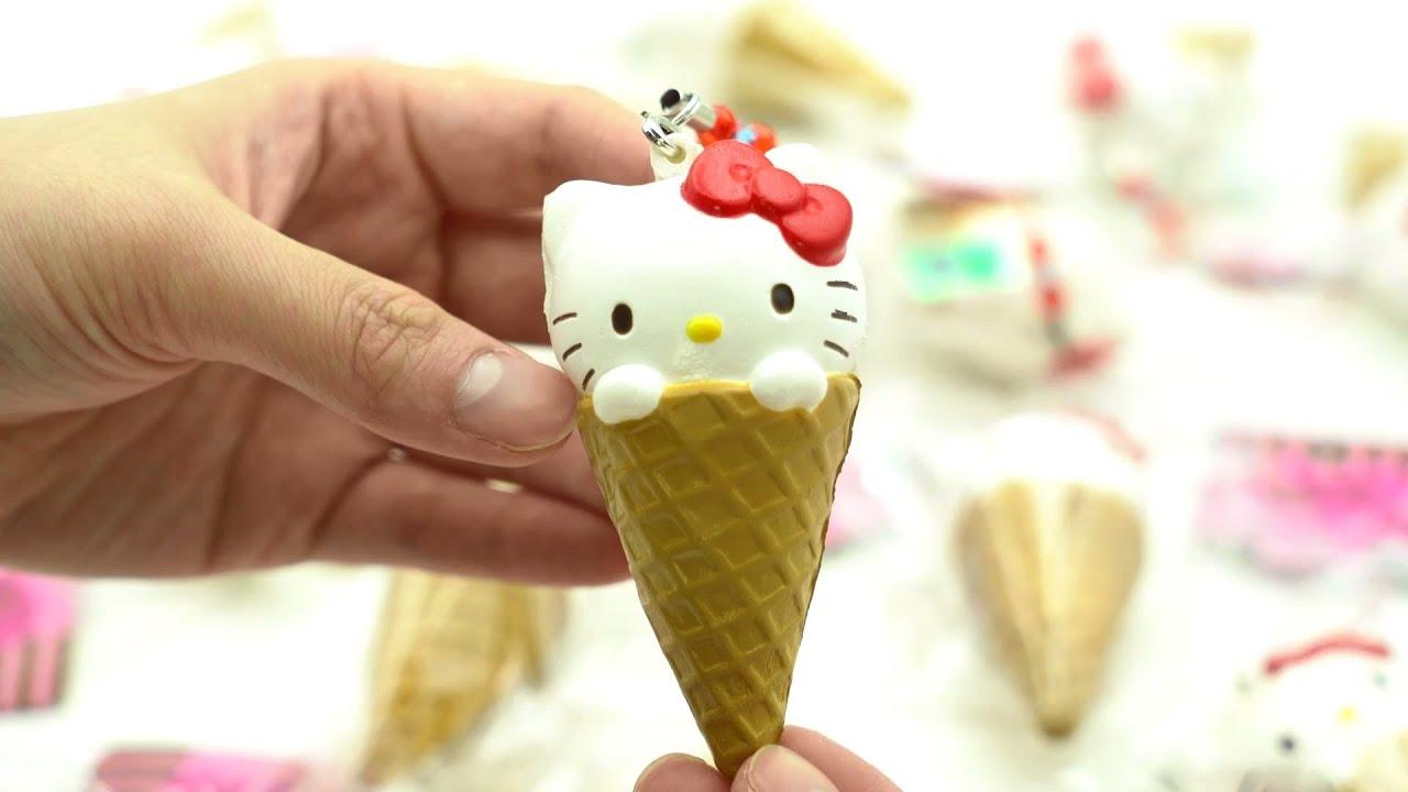 kitty ice cream squishy charm