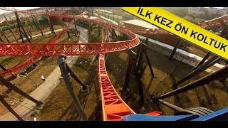 Viaport Tuzla Marina Roller Coaster Red Fire Gopro ilk defa ön koltuk front seat Viasea