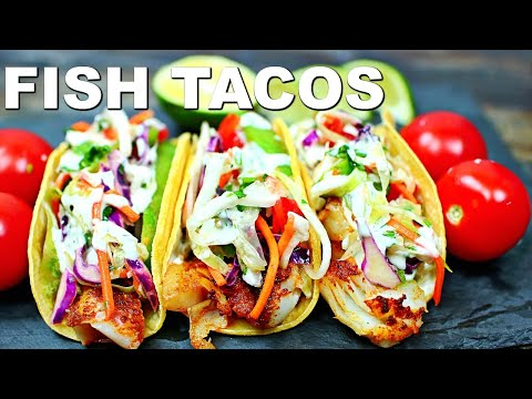 BEST EVER Fish Tacos Recipe - How To Make Easy Fish Tacos