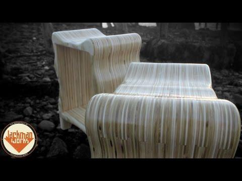 Curvy Plywood Stools – Jackman Carpentry