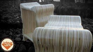 Curvy Plywood Stools - Jackman Carpentry