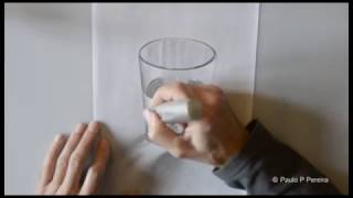 Graphite Drawing - Glass of Water