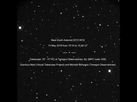 Near-Earth Asteroid 2010 WC9: amazing movie from 15 May 2018