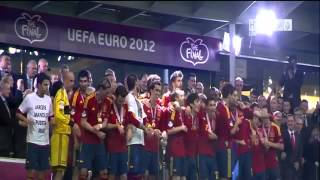 Spain vs Italy 4-0 Ceremony 01/07/2012 EURO 2012 ON YASSIRLIVE TV