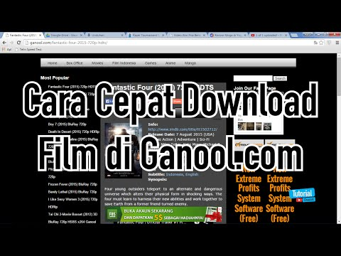 Cara Cepat Download Film di Ganool.com - Tutorial Video