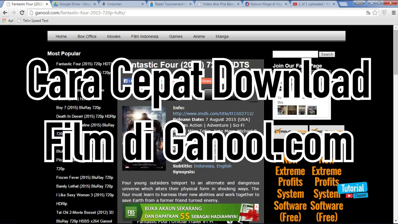 Cara cepat download film di ganool tutorial video youtube reheart Image collections