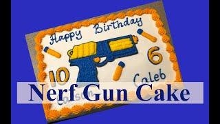 Nerf Gun Cake  sheet cake decor