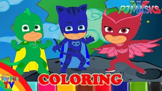 PJ Masks Coloring Book Colouring in Childrens Drawing ToyfunTV