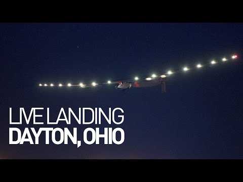 LEG 12 LIVE: Solar Impulse Airplane - Landing in Dayton