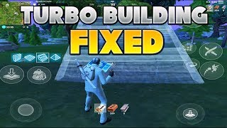 HOW TO FIX THE TURBO BUILDING GLITCH // FORTNITE MOBILE //