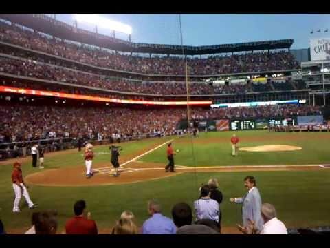 Nolan Ryan first pitch, Rangers vs. Yankees ALCS