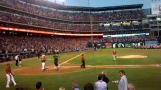 Nolan Ryan first pitch, Rangers vs. Yankees ALCS