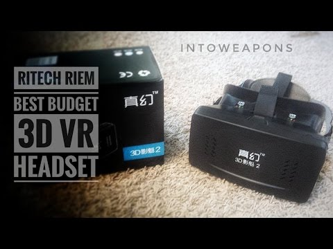 Budget VR Headset with ANY Cellphone:  Ritech Riem VR Glasses