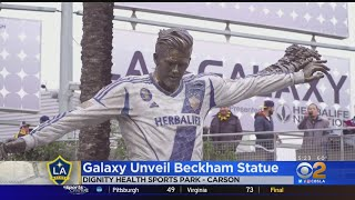 David Beckham Honored With Statue Outside Dignity Health Park