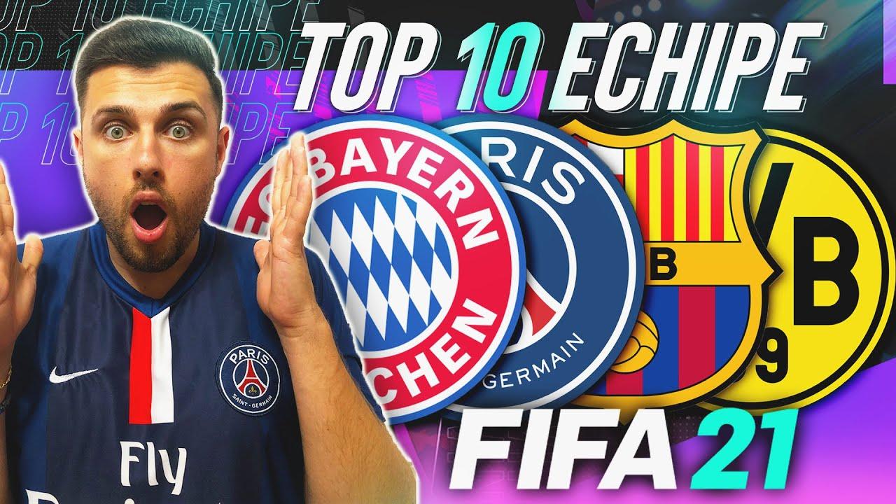 FIFA 21    TOP 10 CELE MAI BUNE ECHIPE DIN FIFA 21! (BAYERN MUNCHEN, BARCELONA, PSG)
