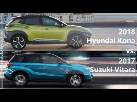 2018 Hyundai Kona vs 2017 Suzuki Vitara (technical comparison)