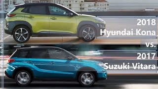 2018 Hyundai Kona vs 2017 Suzuki Vitara (technical comparison)