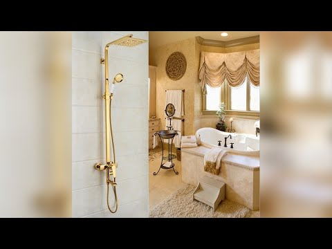 Florence Gold Shower Set with 8 Inch Rainfall Square Shower Head