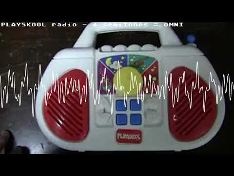 PLAYSKOOL Select-A-Station toy radio, but pitched like the OMNI's HT3894A!