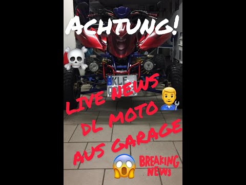 QUAD VLOG/LIVE NEWS VON DL MOTO AUS GARAGE/QUAD DILNI 450