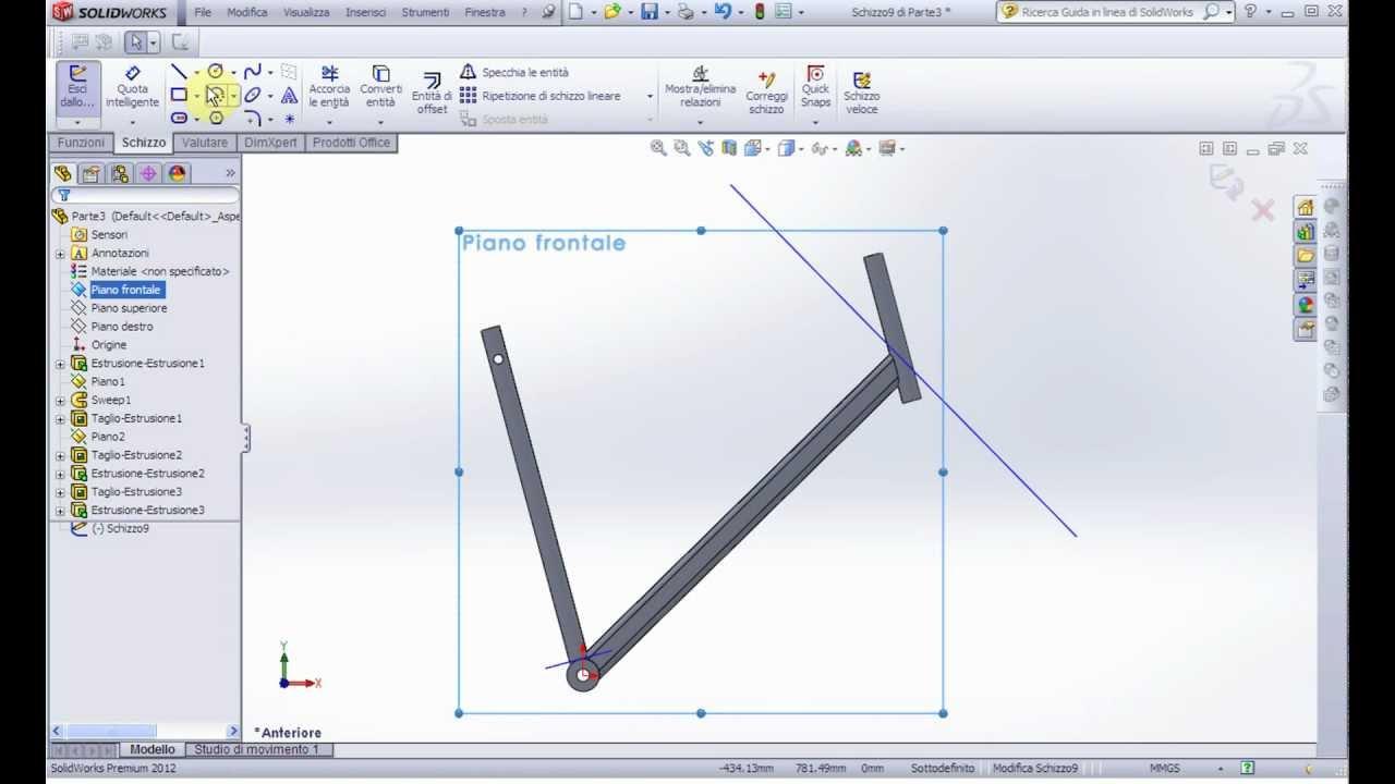 Solidworks n 14 telaio bicicletta 1 parte progetto for Una planimetria della cabina del telaio