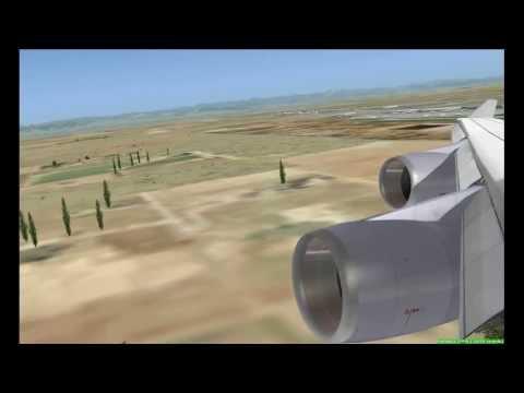 【FSX】Lufthansa B747 Take-off Denver to Frankfurt