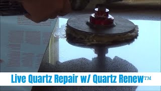 How To Repair a Quartz Countertop Live Demonstration with the Quartz Renew™ System