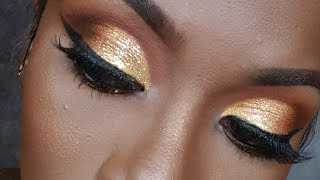 Yellow and Glitter Makeup    Makeup BySharz