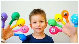The Hide and Seek Game with Balloons by Kids Learning Songs