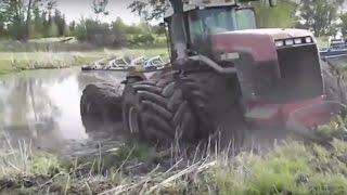 Tractors Stuck in Mud Compilation 2017 Deep Mud Bog Fails