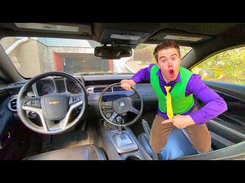 Red Man tore off Steering Wheel on Car VS Mr. Joe on Chevrolet Camaro with Small Steering Wheel 13+