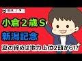【2017小倉2歳S・新潟記念】夏の締めは地力上位2頭から⁉